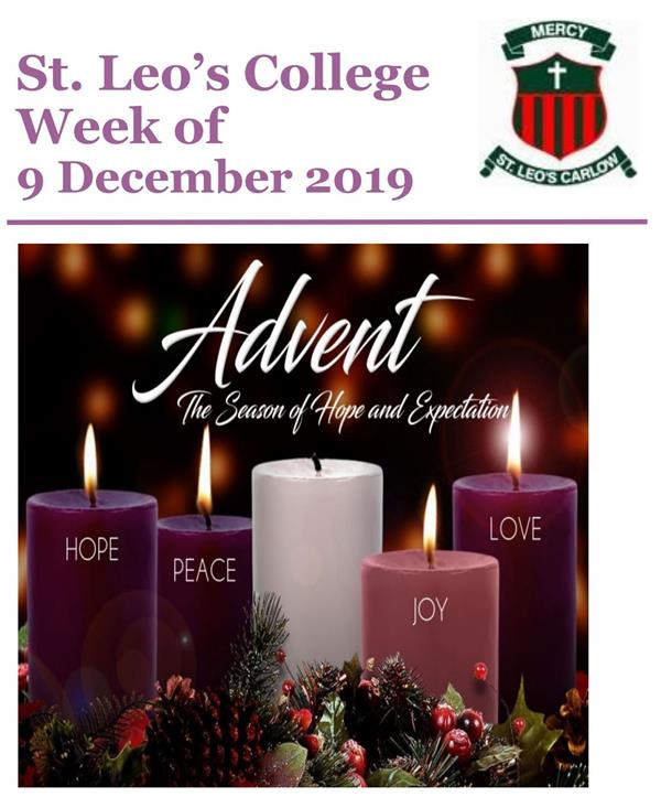 Student Newsletter w/c 09 December 2019