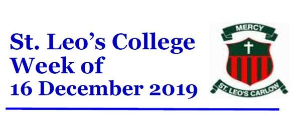 Student Newsletter W/C 16 December 2019