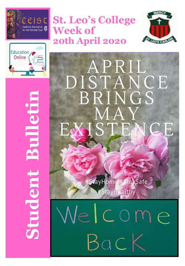 Student Newsletter W/C 20th April 2020
