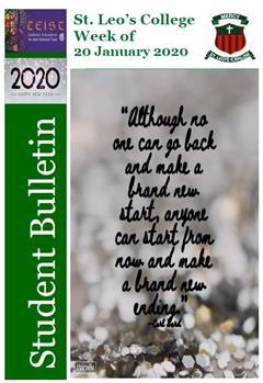 Student Newsletter W/C 20 January 2020