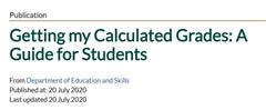 Calculated Grades - A Guide for Students