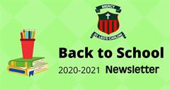 Back to School Newsletter September 2020