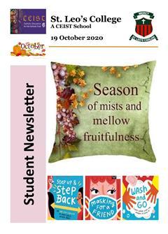 Student Newsletter 19th October 2020