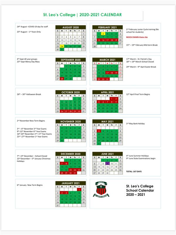 Calendar 2020/2021