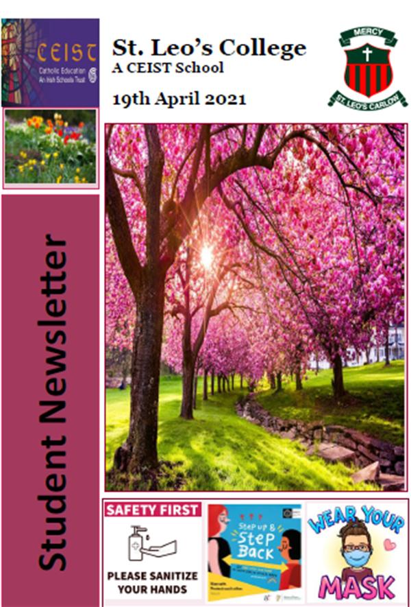 Student Newsletter 19 April 2021