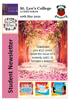 Student Newsletter 10 May 2021