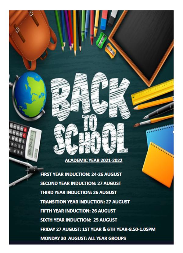 Return to School August 2021