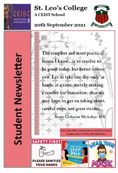 Student Newsletter 20th September 2021