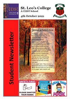 Student Newsletter 4th October 2021