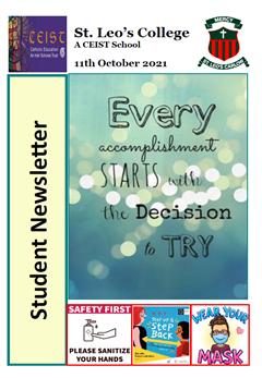 Student Newsletter 11 October 2021