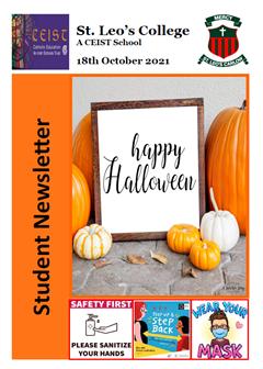 Student Newsletter 18 October 2021
