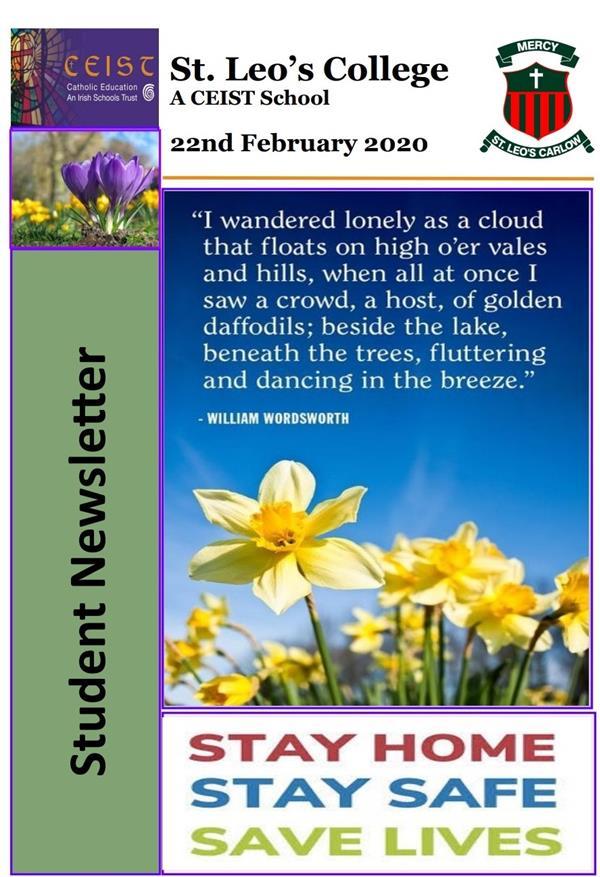 Student Newsletter 22 February 2021