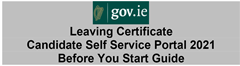 Important Information for Leaving Certificate Students about the Portal