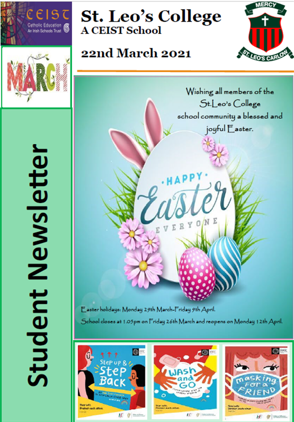 Student Newsletter 22nd March 2021